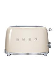 Smeg 50's Retro Style Aesthetic 2 Slice Toaster, 950W, Cream