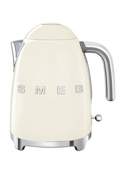 Smeg 50's Retro Style Aesthetic 1.7L Electric Stainless Steel Kettle, 3000W, Cream