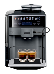 Siemens Fully Automatic Coffee Machine, EQ.6 plus s100, 1500W, TE651209GB, Silver
