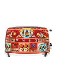 Smeg Dolce & Gabbana Sicily is My Love Style 2 Slice Toaster, 950W, TSF01DGUK, Red