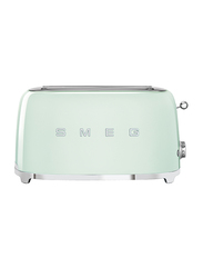 Smeg 50's Retro Style Aesthetic 4 Slice Toaster, 1500W, Green
