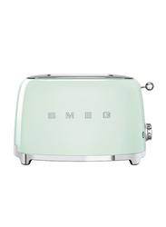 Smeg 50's Retro Style Aesthetic 2 Slice Toaster, 950W, Green