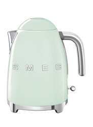 Smeg 50's Retro Style Aesthetic 1.7L Electric Stainless Steel Kettle, 2400W, Pastel Green