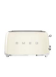 Smeg 50's Retro Style Aesthetic 4 Slice Toaster, 1500W, Cream