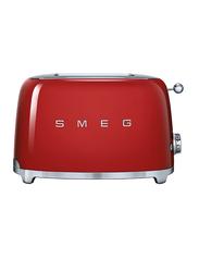 Smeg 50's Retro Style Aesthetic 2 Slice Toaster, 950W, Red