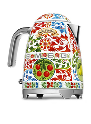 Smeg Dolce & Gabbana Sicily is My Love Style 1.7L Electric Stainless Steel Kettle, 2400W, KLF03DGUK, Red