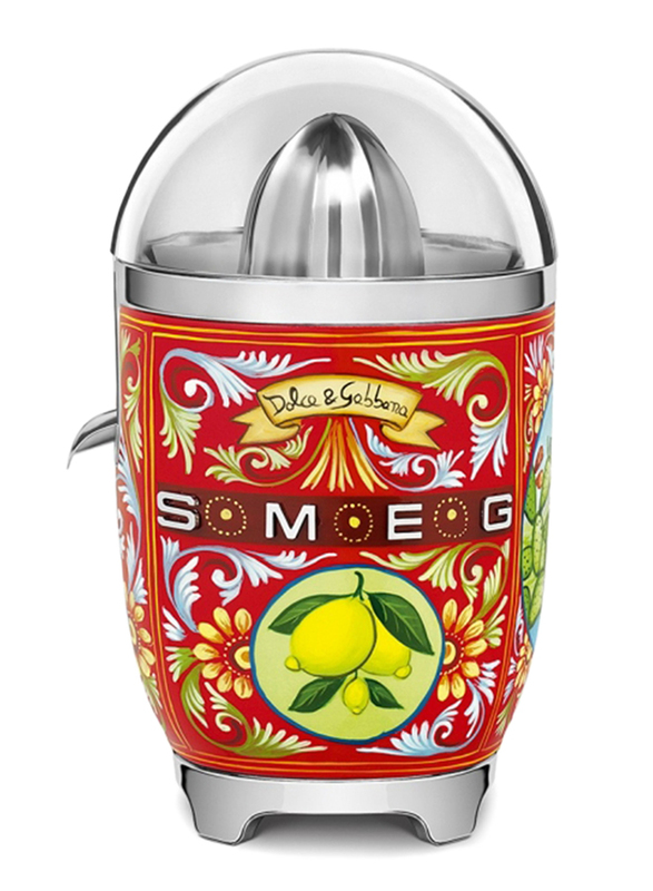 Smeg Dolce & Gabbana Sicily is My Love Style Citrus Juicer, 70W, CJF01DGUK, Red
