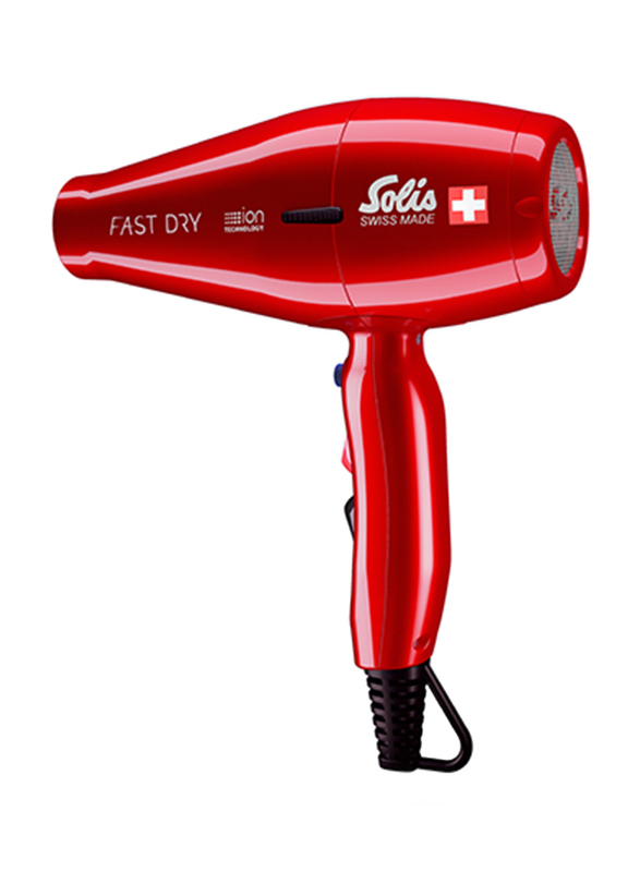 Solis Fast Dry Hair Dryer, Type 381, Red