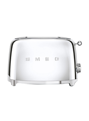 Smeg 50's Retro Style Aesthetic 2 Slice Toaster, 950W, Chrome
