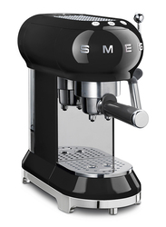 Smeg 50's Retro style Aesthetic Espresso Coffee Machine, 1350W, Black
