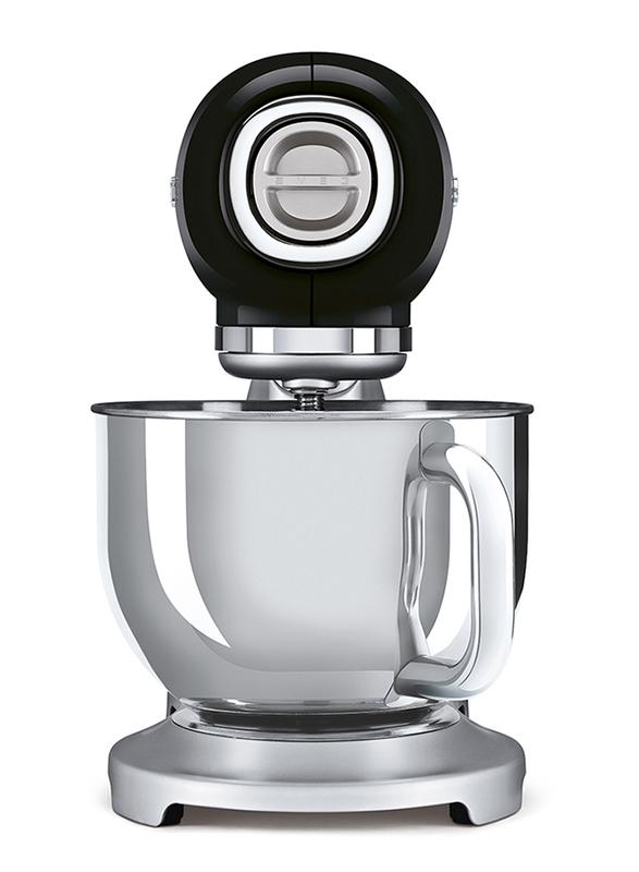Smeg 50's Retro Style Aesthetic Stand Mixer, 800W, SMF02, Black