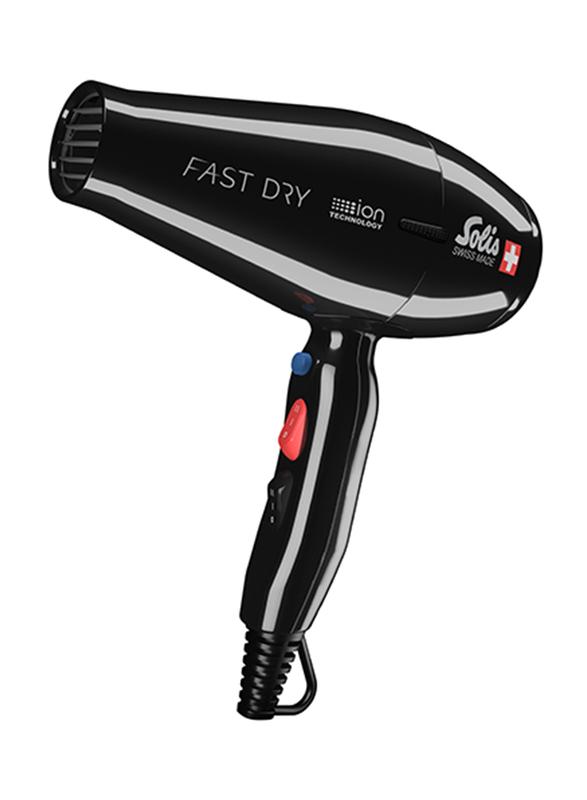 Solis Fast Dry Hair Dryer, Type 381, Black