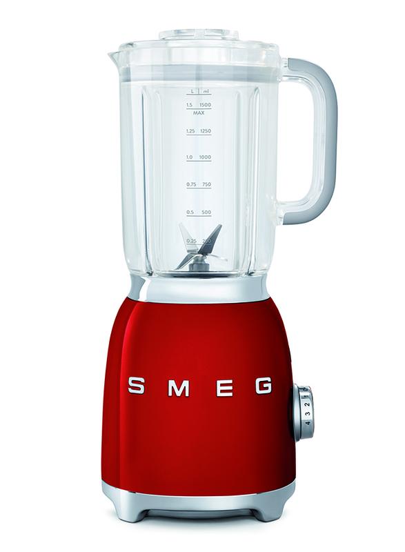 Smeg 50's Retro Style Aesthetic Blender, 800W, Red