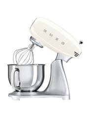 Smeg 50's Retro Style Aesthetic Stand Mixer, 800W, SMF02, Cream