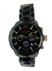 Blade Analog Watch for Men with Stainless Steel Band, Chronograph, 30-3352G, Black