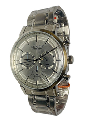 Blade Analog Watch for Men with Stainless Steel Band, Chronograph, 10-3473G, Silver