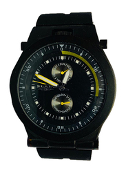 Blade Analog Watch for Men with Silicone Band, Chronograph, 30-3271G, Black