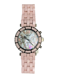 Blade Analog Watch for Women with Ceramic Band, Chronograph, 15-3220, Pink