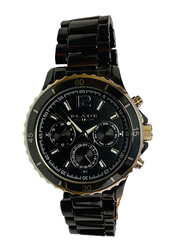 Blade Analog Watch for Men with Stainless Steel Band, Chronograph, 10-3426G, Black