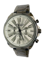 Blade Analog Watch for Men with Stainless Steel Band, Chronograph, 10-3502G, Silver