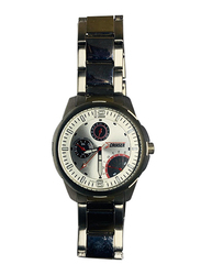 Cruiser Analog Watch for Men with Stainless Steel Band, Chronograph, 8514, Silver