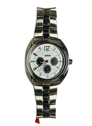 Cruiser Analog Watch for Men with Stainless Steel Band, Chronograph, C1869, Silver-White