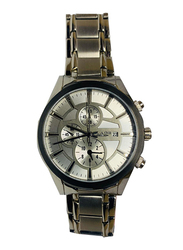 Blade Analog Watch for Men with Stainless Steel Band, Chronograph, 10-3430G, Silver