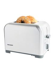 Sharp 2 Slice Toaster, 850W, KZ-T41-W3, Silver