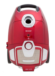 Sharp 1800W Canister Vacuum Cleaner, 51L, EC-BG1805A-RZ, Red