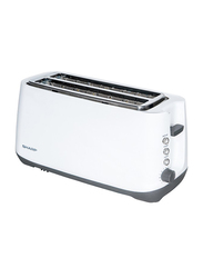 Sharp 4 Slice Toaster, 1400W, KZ-T12-W3, White