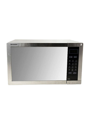 Sharp 34L Microwave Oven, 1000-1100W, with Grill, R-77AT-ST, Grey