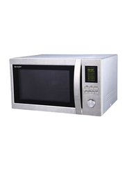 Sharp 43L Microwave Oven, 1100-1400W, with Grill, R-78BT-ST, Grey