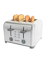Sharp 4 Slice Toaster, 1400W, KZ-T42-W3, Silver