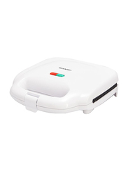 Sharp 2 Slices Electric Sandwich Maker, 700W, Non-Stick Coasted, KZ-SU11-W3, White