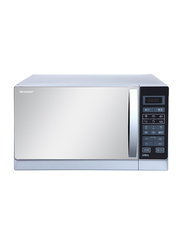 Sharp 25L Microwave Oven, 900-1000W, with Grill, R-75MT-S, Silver/Grey