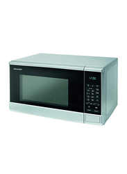 Sharp 20L Solo Microwave Oven with Push Button Door, 700W, R-20GM-SL3, Silver