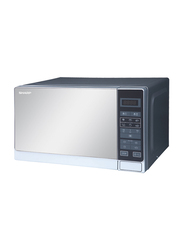 Sharp 20L Microwave Oven, 800W, R-20MT-S, Black/Silver