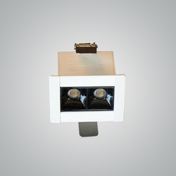 Euroluce 2Heads Ceiling Downlight, LED Bulb Type, 4W, CF4002, 3000K-Warm White