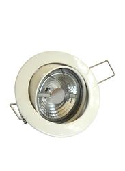 Salhiya Lighting Spotlight Frame, LED Bulb Type, Round Movable, AL229B, White