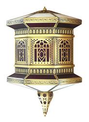 Salhiya Lighting Indoor Arabic Wall Light, E27 Bulb Type, DT0827, Brass