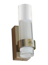 Salhiya Lighting LED Mirror/Picture Light, Satin Nickel, 1x3W, 3285B, Silver