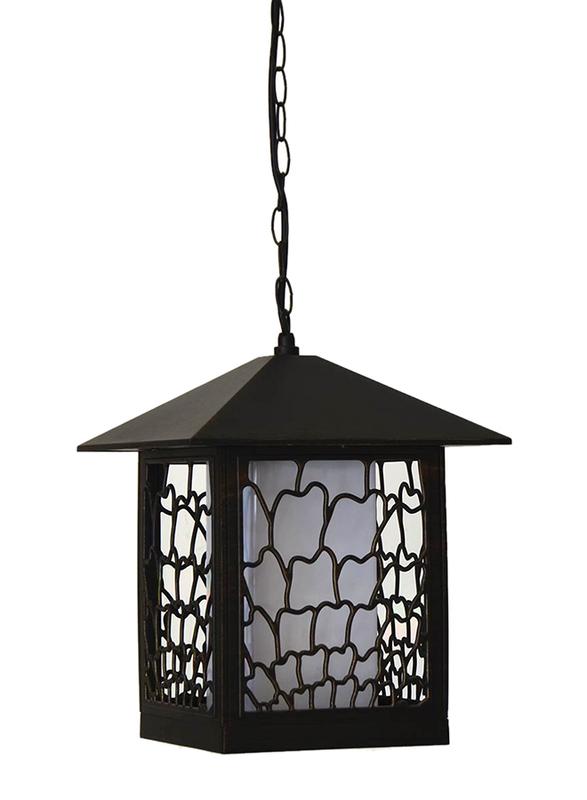 Salhiya Lighting Outdoor Hanging Ceiling Light, E27 Bulb Type, 7705A, Brown