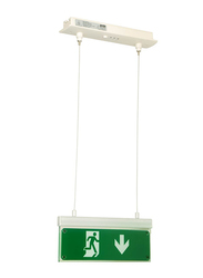 Olympia Emergency Luminar Eco Light, Maintained Exit Sign Arrow Down, SLD28/DZ, Green/White