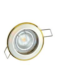 Salhiya Lighting Spotlight Frame, GU10 Bulb Type, Round Fixed, AL146PS/G, Chrome