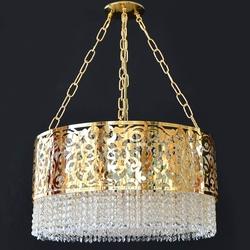 Salhiya Lighting Crystal Chandelier, E14 Bulb Type, AL2016082306, Gold