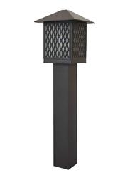 Salhiya Lighting Bollard Light, E27 Bulb Type, Polycarbonate Diffuser, 143106, Brown