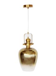 Salhiya Lighting Modern Schindler Indoor Glass Ceiling Pendant Light, E27 Bulb Type, D1812GD, Frosted Gold/Gold