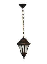 Salhiya Lighting Outdoor Hanging Ceiling Light, E27 Bulb Type, KJ628/18PB, Black/Gold