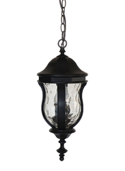 Salhiya Lighting Outdoor Hanging Ceiling Light, E27 Bulb Type, A2622, Black