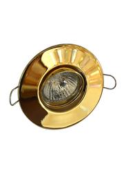 Salhiya Lighting Spotlight Frame, GU10 Bulb Type, Round Movable, R206, Gold